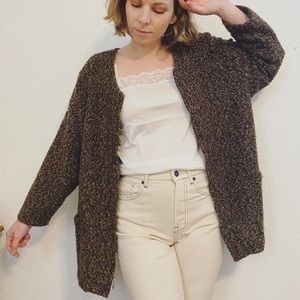 Vintage cloud-knit cardigan • bark